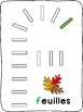 Dominos - Fall / L'automne - French - letter formation activity mats