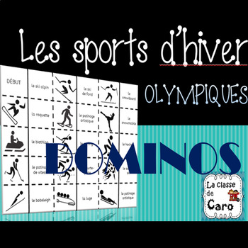 Dominos Les sports d'hiver Olympiques - Imprimable  - (French-FSL)