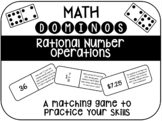 Dominos Matching Game - Rational Number Operations