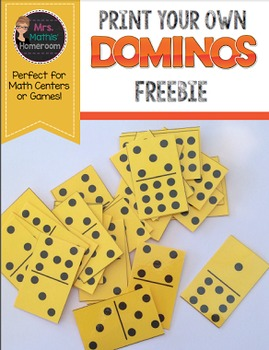 Dominos, Print Your Own - Freebie
