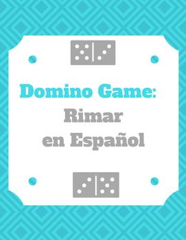 Dominos: Rhyme Game in Spanish/Rimar en Español