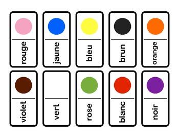 Dominos de couleur - Color dominoes