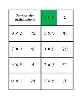 Dominos de multiplications