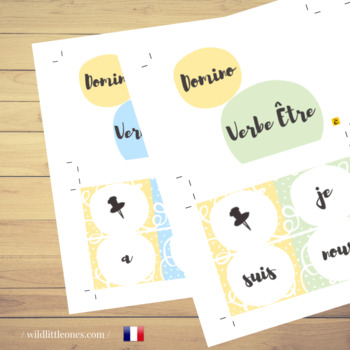 "French Verbs Domino Game⎜ ""To have"" and ""To be"" ⎜Printable Dominoes"