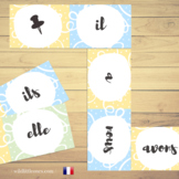 """French Verbs Domino Game⎜ """"To have"""" and """"To be"""" ⎜Printable Dominoes"""