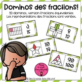 Dominos des fractions équivalentes // 3e cycle // French Math Game