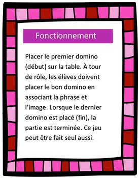 Dominos - phrases - St-Valentin