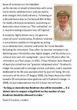 Don Bradman Handout