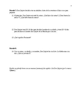 Don Quijote Ch 1 Test
