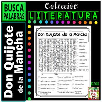 Don Quijote de la Mancha    -Word search