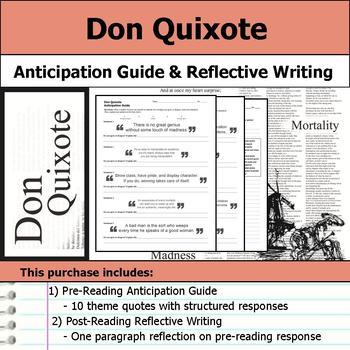 Don Quixote - Anticipation Guide & Reflection