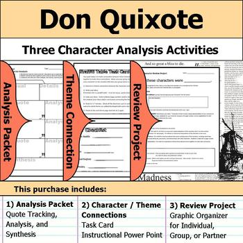 Don Quixote - Character Analysis Packet, Theme Connections, & Project