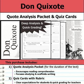 Don Quixote - Quote Analysis & Reading Quizzes