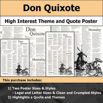 Don Quixote - Visual Theme and Quote Poster for Bulletin Boards