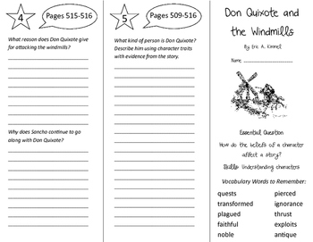 Don Quixote and the Windmills Trifold - Journeys 5th Grade Unit 4 Week 5