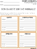 Don Quixote and the Windmills Vocabulary Grids