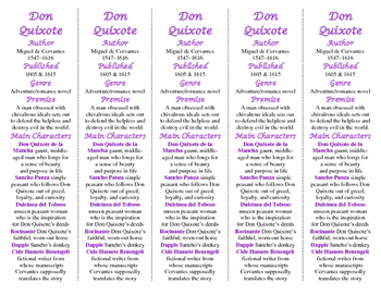 Don Quixote edition of Bookmarks Plus—Fun Freebie/Handy Little Reading Aid!