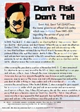 Don't Ask, Don't Tell LGBT History (Part of Multicultural Curriculum Series)