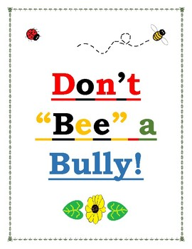Don't BEE a Bully! - Reading Comprehension and Fluency packet