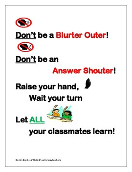 Don't Be A Blurter Outer!
