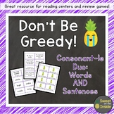 Don't Be Greedy: Consonant-le (Cle) DUO (Words AND Sentenc