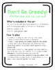 Don't Be Greedy: VCe DUO (Words AND Sentences) Phonics Game
