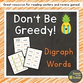 Don't Be Greedy: Digraph Words Phonics Review Game