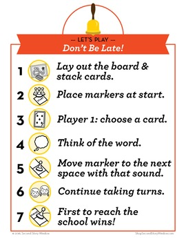Don't Be Late Short Vowel Phonics Game - Words Their Way Game