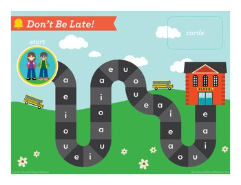 Don't Be Late Short Vowel FREE Phonics Game - Words Their Way Game