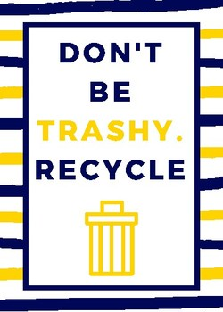 Don't Be Trashy-Poster-Navy and Gold