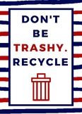 Don't Be Trashy-Poster-Navy and Red