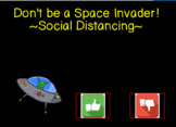 Don't Be a Space Invader! Editable Google Slide Social Story