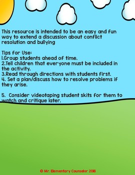 Don't Be the Messenger - Recess Conflict Activity