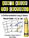 Don't Break the Crayons: Long I Game (Differentiated)