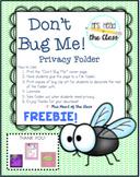 Don't Bug Me! Privacy Folder