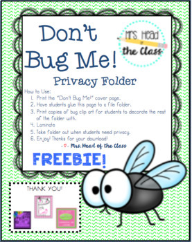 Don't Bug Me! Privacy Folder