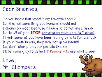 Don't Chomp the Pencils: A Classroom Management Strategy