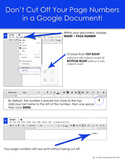 Don't Cut Your Page Numbers Off When Printing a Google Doc