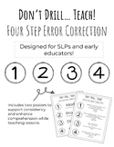 Don't Drill...Teach! Four Step Error Correction