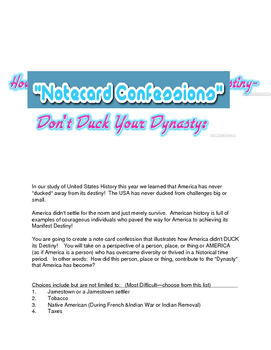 Don't Duck Your Destiny Note Card Confessions