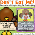 Don't Eat Me! November Writing Prompts for Thanksgiving (Turkey Trouble)