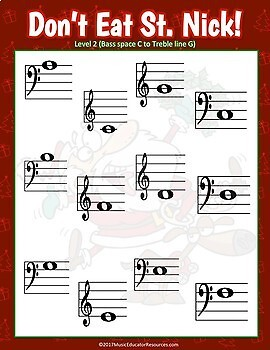 Don't Eat St. Nick; A Music Note Review Game