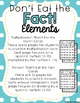 Don't Eat the Fact!-Practice Multiplication & Division (w/o remainders)