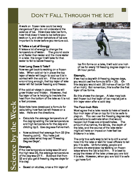 Don't Fall Through the Ice!:   Leveled Informational Text
