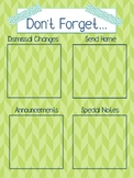 Don't Forget Memo Board (Lime and Teal)