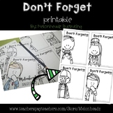 Don't Forget Printable - EDITABLE - by Melonheadz