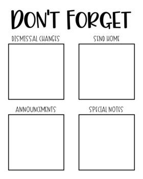 Don't Forget Reminder Frame EDITABLE