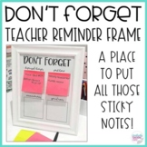 Don't Forget Reminder Frame EDITABLE