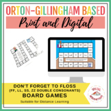 Don't Forget to FLOSS! (ff, ll, ss, zz board game) Orton-Gillingham Inspired