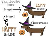 Happy Halloweenie Clip Art FREEBIE